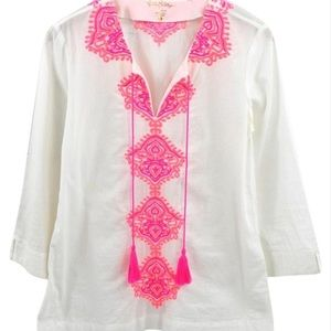 Lilly Pulitzer (s) embroidered tunic